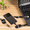 D2 Data Cable with GPS Positioning Tracker - BLACK