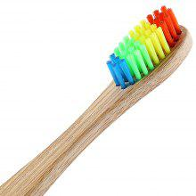 Eco-friendly  Bamboo Charcoal Infused Toothbrush with Soft Nylon Bristles