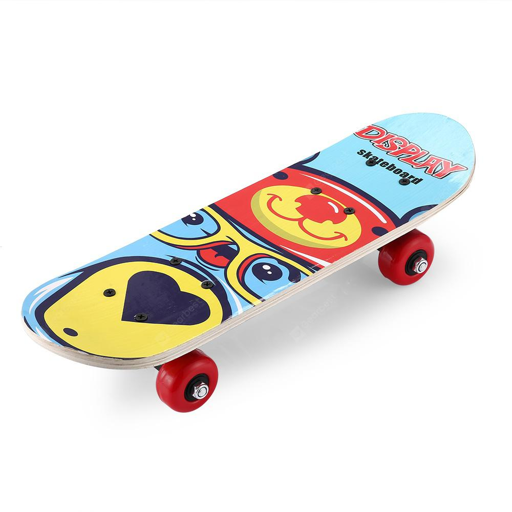 Gocomma Q1 Children Four wheeled Skateboard DAY SKY BLUE