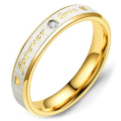 11YWTSSP - 120 Diamond Gauze Forever Love Couple Ring