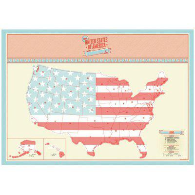 USA Travel Life Portable Creative Travel Poster Scratch Map
