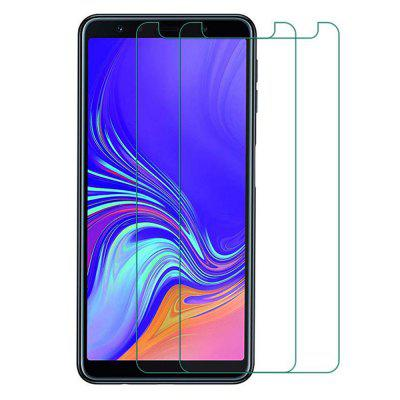 2 Pcs Screen Protector Protection Film for Samsung Galaxy A7 2018 Tempered Glass