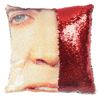 Expression Pillowcase Face DIY Pillow Sequin without Pillow Inner