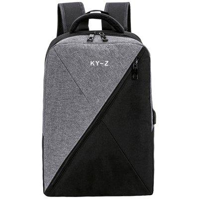 Smart USB Charging Oxford Cloth Computer Backpack