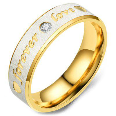 11YWTSSP - Bague pour couple Love Forever Love en gaze de 120 diamants