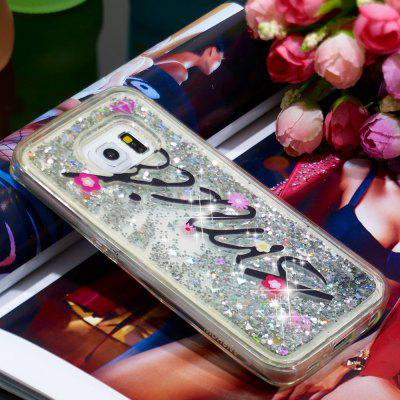 Full Soft Anti-fall Sand Smile Transparent Mobile Phone Case for Samsung Galaxy S6 Edge