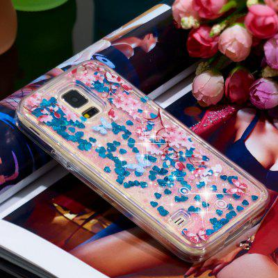 Voller weicher Anti-Fall Sand Cherry Blossom transparenter Handy-Fall für Samsung Galaxy S7