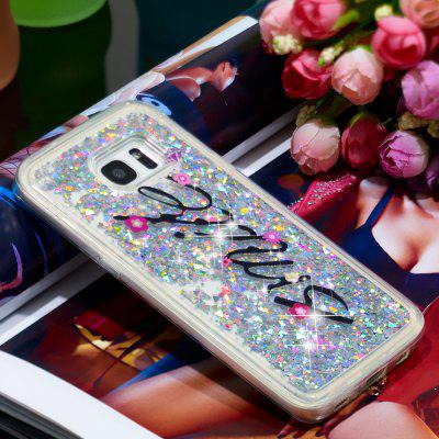 Anti-fall Sand Smile Transparent Mobile Phone Case for Samsung Galaxy S7 Edge