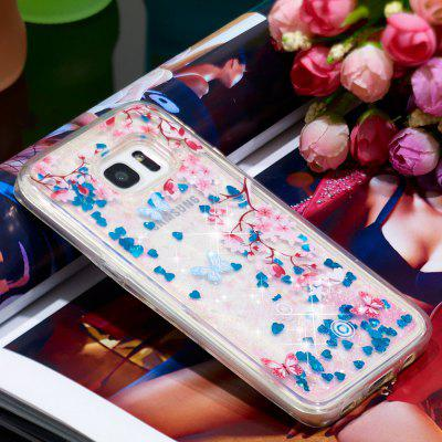 Voller weicher Anti-Fall Sand Cherry Blossom transparenter Handy-Fall für Samsung Galaxy S7 Edge