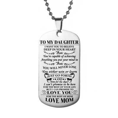 Stainless Steel Military Pendant Necklace