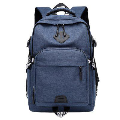 Men Student Casual Large Capacity USB Charging Computer Backpack