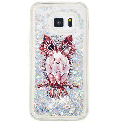 TPU Full Soft Anti-fall Quicksand Transparent Owl Mobile Phone Case for Samsung Galaxy S5