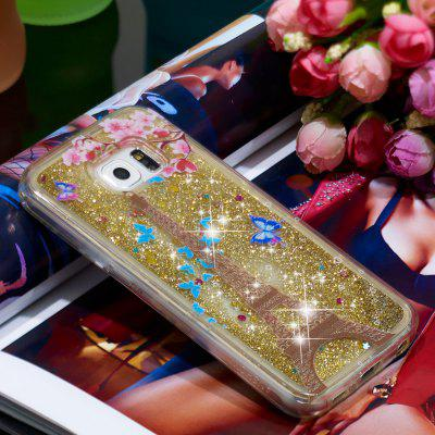 TPU Full Soft Anti-fall Quicksand Transparent Mobile Phone Case for Samsung Galaxy S6