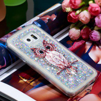TPU Soft Quicksand Transparent Mobile Phone Case for Samsung Galaxy S6