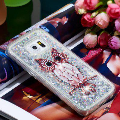TPU Full Soft Anti-fall Quicksand Transparent Phone Case for Samsung Galaxy S6