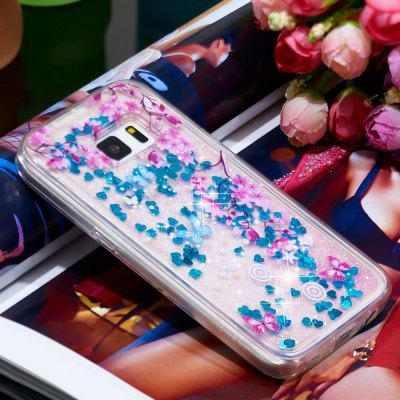 TPU Full Soft Anti-fall Quicksand Transparent Mobile Phone Case for Samsung Galaxy S5