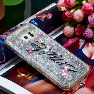 TPU Full Soft Quicksand Transparent Mobile Phone Case for Samsung Galaxy S6