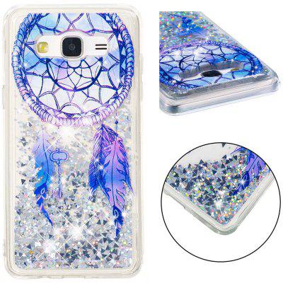 TPU Full Soft Anti-fall Sand Transparent Mobile Phone Case for Samsung Galaxy J5 2015