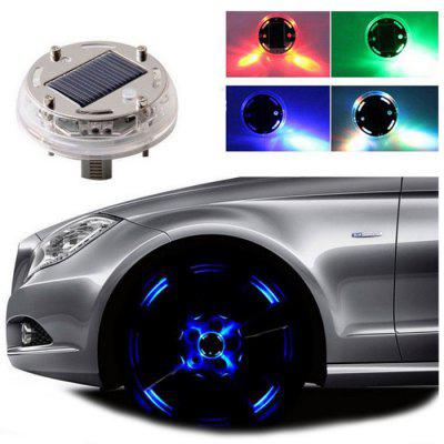 Wheel Hub Light Solar Strobe LED Lights Modified Tire Wheels Lighting