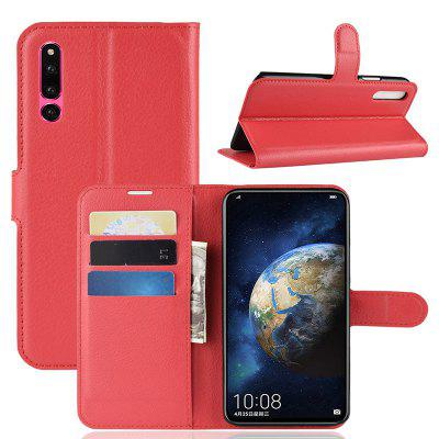 Naxtop Lychee Pattern Mobile Wallet Flip Cover Protective Case for HUAWEI Honor Magic 2
