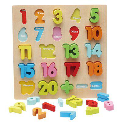 Color Children Early Education Wooden Three-dimensional Number Puzzle Toy