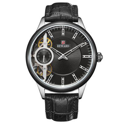REWARD RD63091M Men's Automatic Mechanical Watch Small Seconds Belt with Box