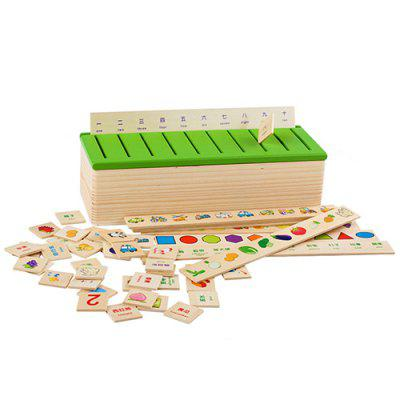 Children Learning Knowledge Classification Box Early Education Educational Toy Set