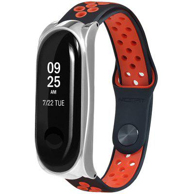 Buckle Metal Shell Two-color Reversal Replacement Wristband for Xiaomi Mi Band 3