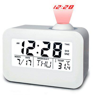 Fashion Creative LED Voice-activated Projection Alarm Clock