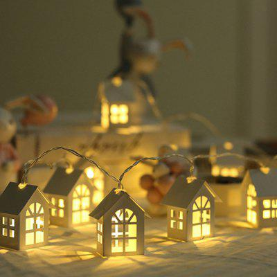 Christmas Wooden Small House Decoration Light
