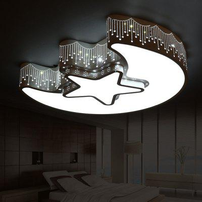 Star Moon Modern Simple LED Double Color Ceiling Light