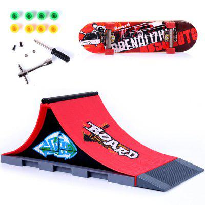 DIY Finger Skateboard with Ramp Parts Board Sports Toy Gift