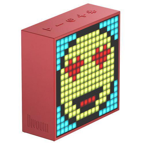 Divoom Timebox - Evo Portable Bluetooth Pixel Art Speaker with 1616 Mobile App Programmable LED Panel Alarm Clock