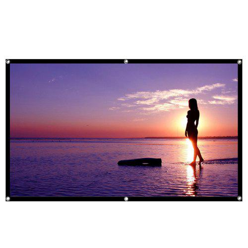 Gocomma Projector Screen WHITE 84 pouces