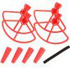 Protection Ring Blade Propeller with Foot Frame Aircraft Model UAV Accessories for DJI Spark Drone - RED