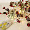 Christmas Decoration Pearl Pine Cone LED Copper Wire String Light - WARM WHITE