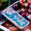 TPU Soft Anti-fall Quicksand Transparent Mobile Phone Case for Samsung Galaxy S6 - DODGER BLUE