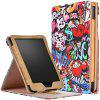 Painted Flower Tablet Protective Case for Kobo Clara HD - NEON PINK