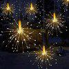 LED Fireworks Style Outdoor Garden Lamp - WARM WHITE