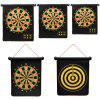 Magnetic Safety Double-sided Bullseye Target with 6pcs Darts - BLACK