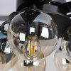 52YD - 5013 132cm Modern Simple Fan Pendant Light with Remote Control for Home 110V - BLACK
