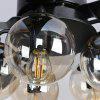 5013 107cm Nordic Modern Minimalist Fan Pendant Light with Remote Control for Home 110V - BLACK