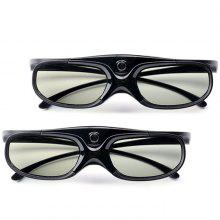Gearbest Active Shutter Rechargeable 3D DLP Glasses Support 144Hz for XGIMI Z3 / Z4 / Z6 / H1 / H2 JMGO G1 / P2 BenQ Acer DLP - LINK Projector 2PCS