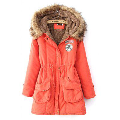 Winter Thick Coat Large Size Hooded Long Cotton Clothing Suede Lamb Hair Parkas for Women