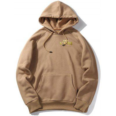 WY18 - X King Men Fleece Large Size English Letter Print Loose Casual Thick Hooded Sweater