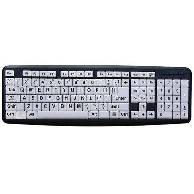 Teclado silenciado con cable USB simple