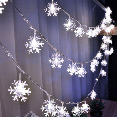 Acrylic Snowflake Christmas Light String