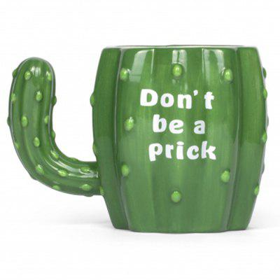 3D Green Cactus Ceramic Mug