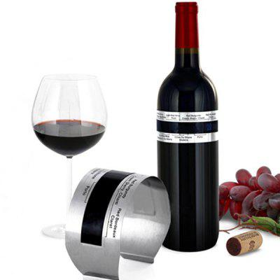 Metal LCD Stainless Steel Wine Bracelet Thermometer