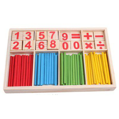 Early Childhood Teaching Wooden Mathematics Toy Color Digital Stick Building Blocks